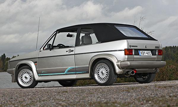 VW Golf Cabriolet '86 – Erilainen kuin muut